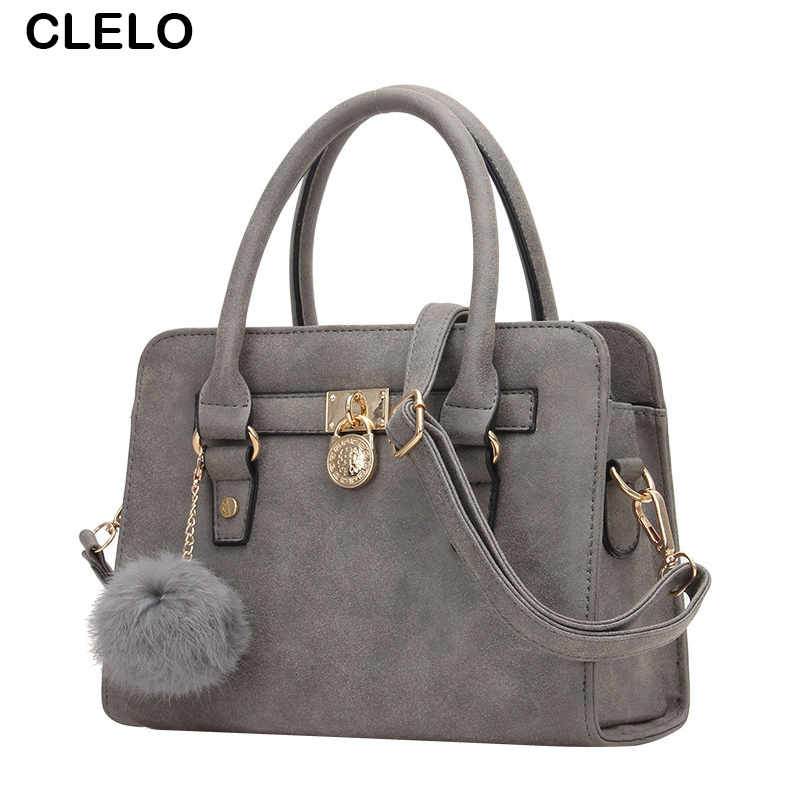 CLELO new fashion Women Shoulder Bags PU Handbag Brand Women Messenger Bags With Hair Ball Capacity Crossbody Bag for female patriot max power srge 6500