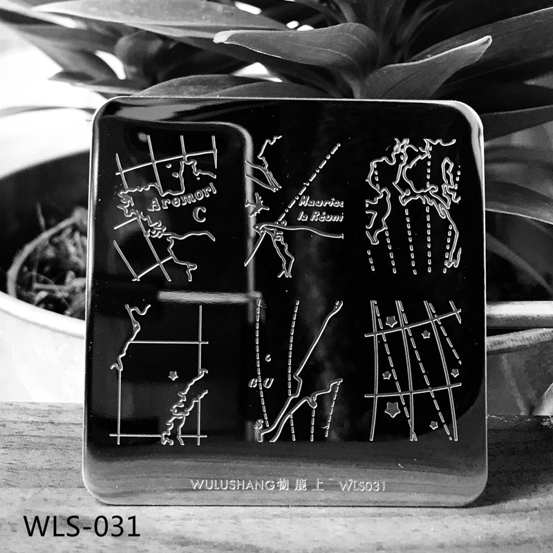 Square Nail Stamping Plates Lace Flower Pattern6 6cm Nail Art Stamp Stamping Template Image Plate Stencils in Nail Art Templates from Beauty Health