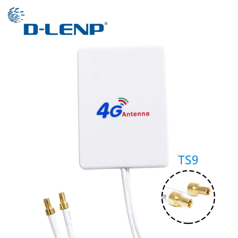 Dlenp 3G 4G LTE אנטנה חיצוני אנטנת WiFi נתב 3M כבל Huawei ZTE 4G LTE מודם אווירי עם TS9/CRC9/SMA מחבר