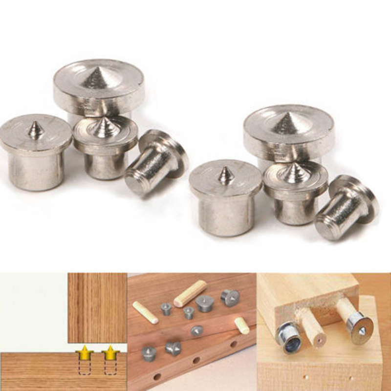 8pcs Dowel Pins Center Point Set Woodworking Craft Clamp Steel Tools 6/8/10/12mm Dowel Centers Wood Working Tools