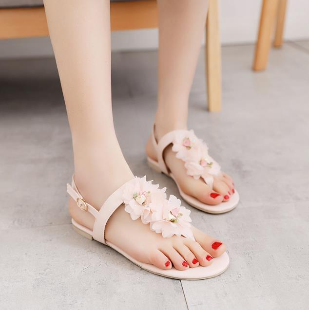 Új női szandálok lakások bokavédő cipő nők nyári édes - Női cipő