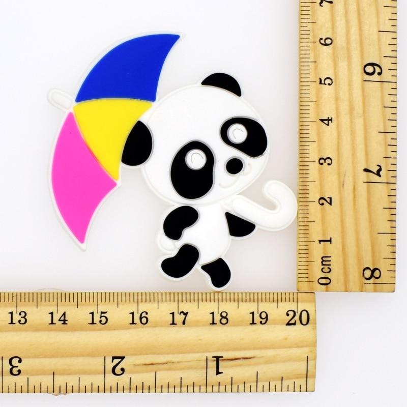 Panda Shape Flatback Soft PVC Charms Fit Keychain/Fridge Magnet/Clogs/Phone Case/iPad DIY Craft Handmade Accessories