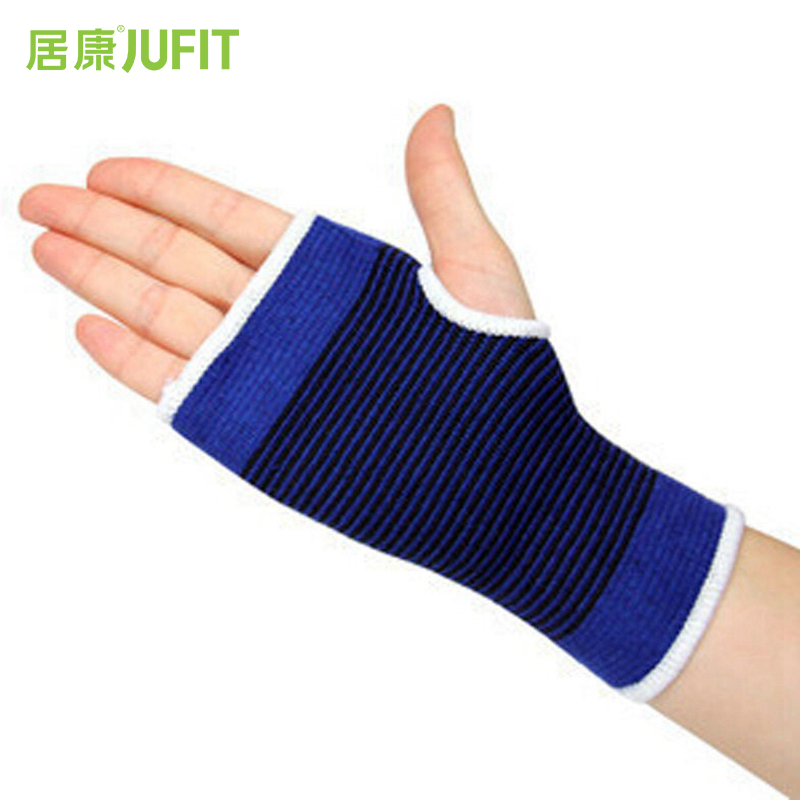 JUFIT Wristband Thumb Hole Gym Training Weightlifting Hand Bar Wrist Support Polyester Cotton