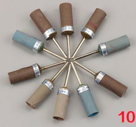 10pcs / lot 2.3 / 3mm کاغذ شن و ماسه ساینده شن و ماسه کاغذ روتاری برش Jade کهربا