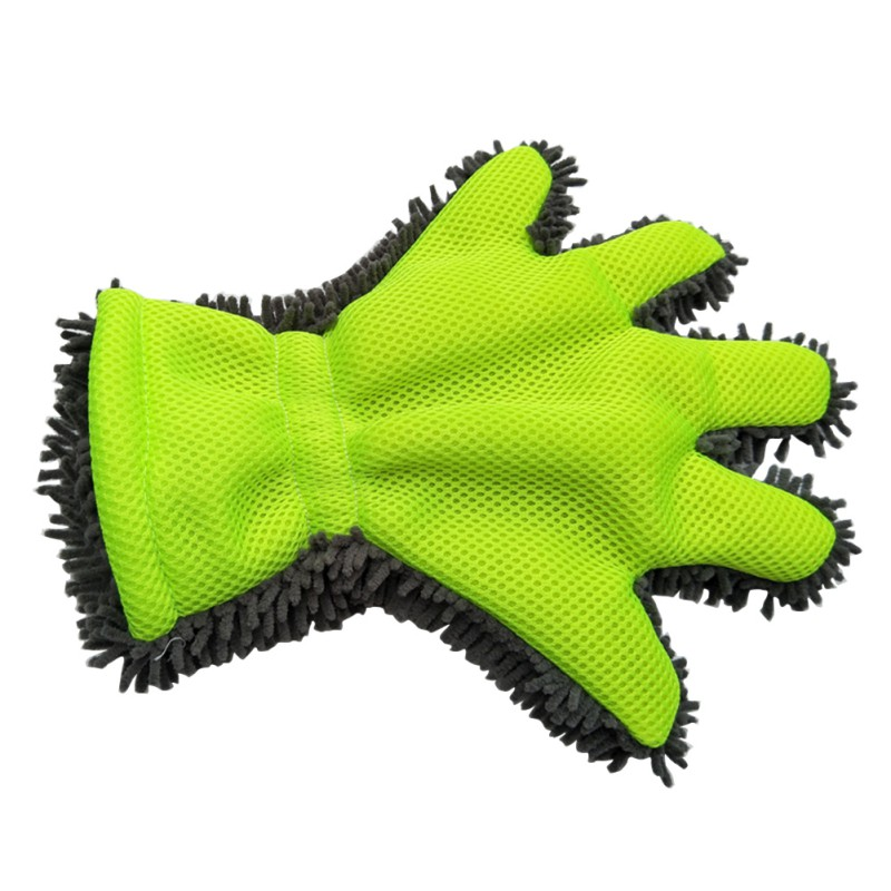 Car Wash Gloves Fine Wool Chenille Finger Gloves Microfiber Car Wash Glove Cleaning Mitt Washing Brush Cloth Car Cleaning Tools household chenille microfiber flexible duster dirt cleaning wash brush tool blue