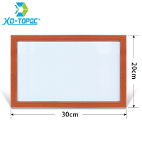 XINDI New 20 30cm 5 Colors MDF Wood Frame Dry Erase Whiteboard Memo Magnetic Erasable White