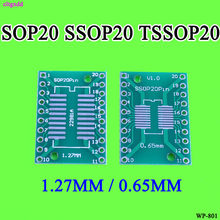 Cltgxdd 10 pcs SOP20 SSOP20 TSSOP20 To DIP20 Pitch 0.65/1.27 มม. IC Adapter PCB Board(China)