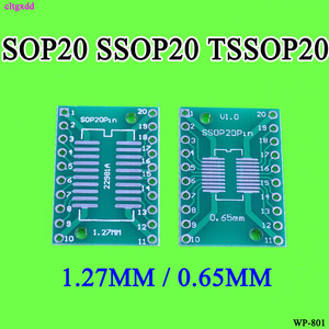 cltgxdd 10pcs SOP20 SSOP20 TSSOP20 To DIP20 Pitch 0.65/1.27mm IC Adapter PCB Board(China)