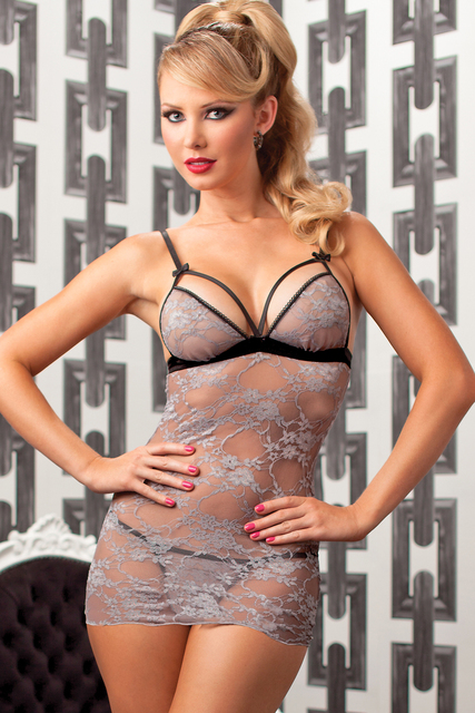 2f4da36ab9f8 2016 Sexy Costumes Sexy Lingerie Hot Sleepwear Stretch Glamour And Grey  Chemise Set Lc2968 Pajamas For Women Free Shipping New