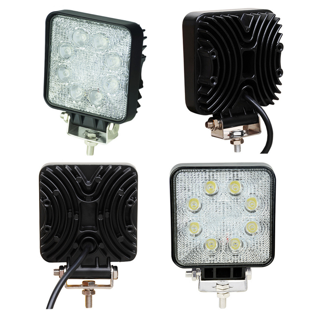 1760lm 24W 10-30V LED Work Flood Square Light Super Bright Off road Car Truck 4x4 Boat SUV Fog light Driving Lamp ATV WHOLESALE