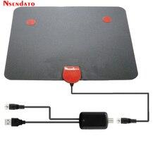 174~240MHz 470-862MHz Digital Indoor Free TV Antenna Signal Amplifier Receiver Flat Design for cable tv 50 miles Range Exterior