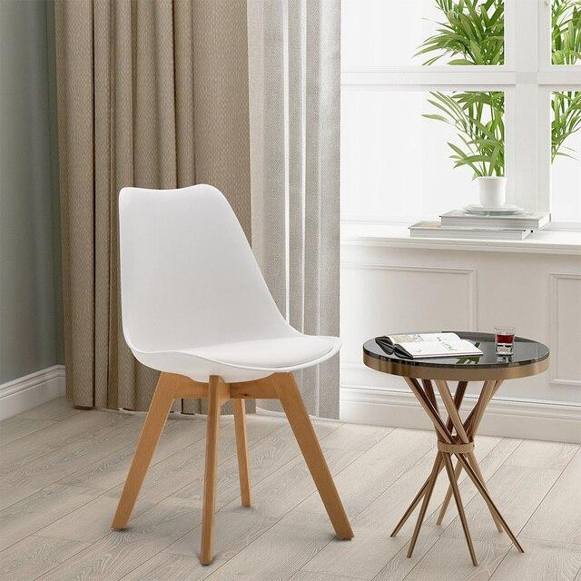 4 piezas Silla de comedor estilo moderno cómoda y duradera conjunto sillas  para cocina dormitorio silla ligera