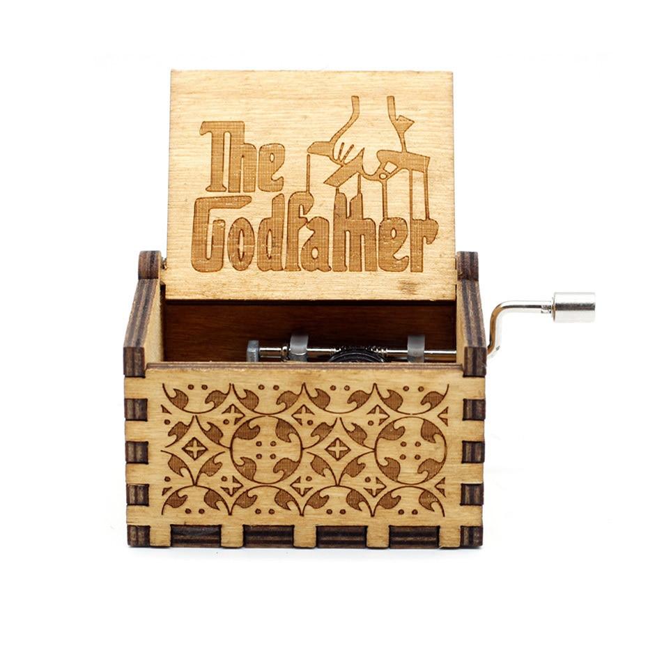 Новая музыкальная шкатулка Juego De Tronos Star Wars, игра в тронный замок в небо, деревянная музыкальная шкатулка, рождественский подарок - Цвет: godfather