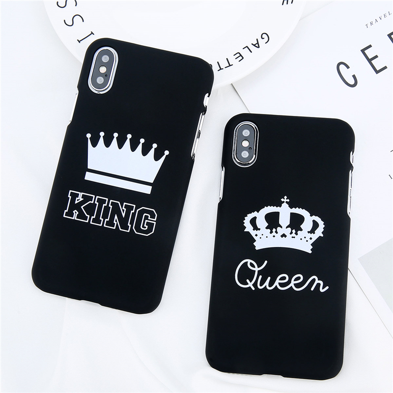 f8c7766ba1 Cartoon Crown For Iphone X 6 6S 7 8 Plus 5 5S SE Phone Case Cartoon ...