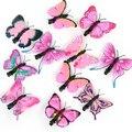 20pcs/lot Artificial Butterfly Hair Clips Woman Girls Hair Accessories Headwear Multi Colors