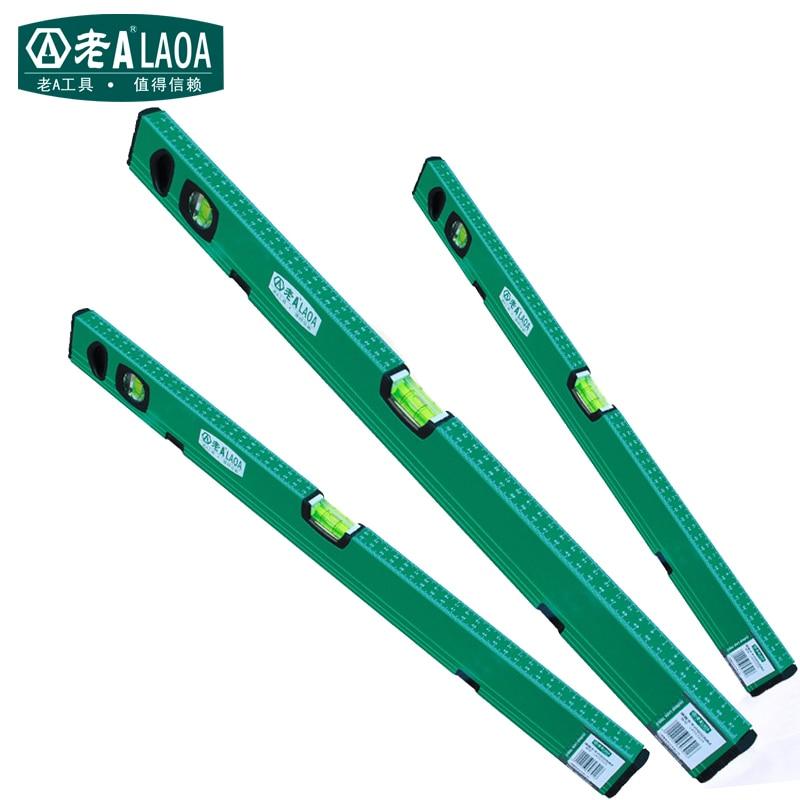 цена на LAOA Strong Magnetic Level Measuring Instruments Aluminium Alloy Spirit Level Professional Home Improvement Tool 300MM 600MM