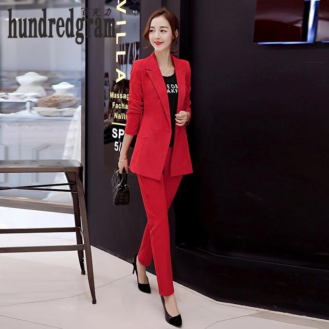 La nueva moda Europea y Americana 2017OL carrera traje de pequeños pantalones de dos piezas suit-dod261