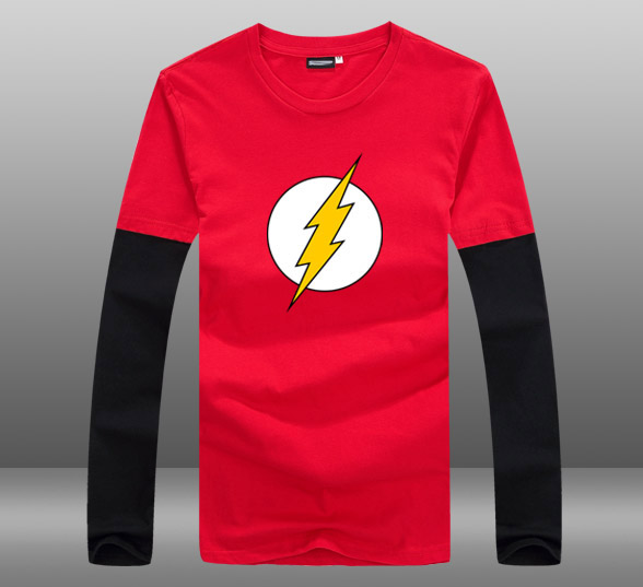 ee3c0689b0d sheldon cooper same style long sleeve t shirt tee The flash costume clothing  joggers cool funny t-shirts men women ~ Free Delivery June 2019