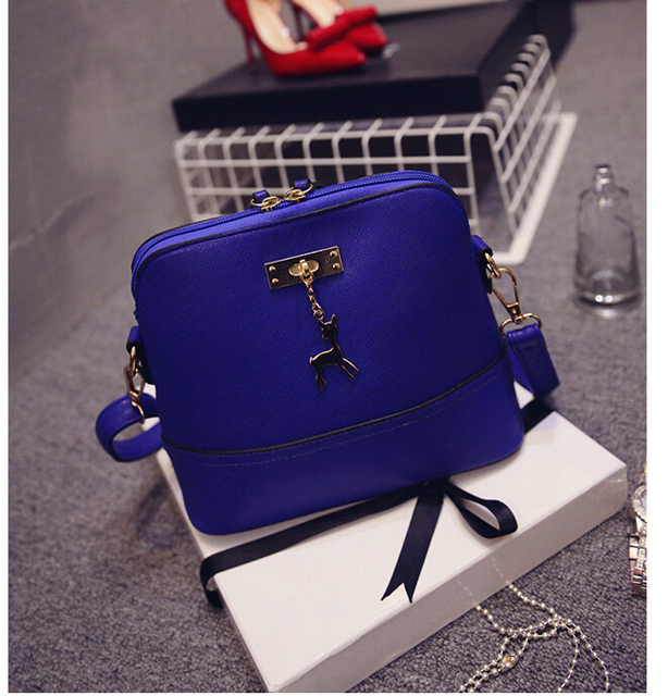 Vintage Nubuck Leather Women Bags Fashion Small Shell Bag With Deer Toy Women Shoulder Bag Winter Casual Crossbody Bag