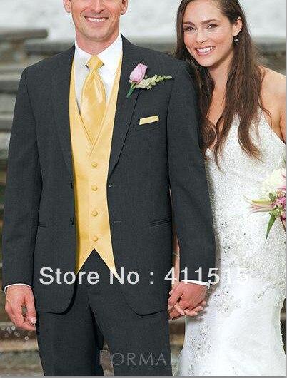 Free Shipping\Charcoal Notch Lapel Groom Wear Tuxedos Groomsmen Men Wedding Dress\custom Groom Suits/suits For Man Wedding Best