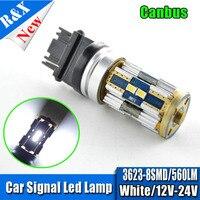 2x CANbus Foutloos Wit 7443 3157 1156 1157 3623 8 led-lampen voor dagrijverlichting drl voor 2011-2013 jeep grand Cherokee