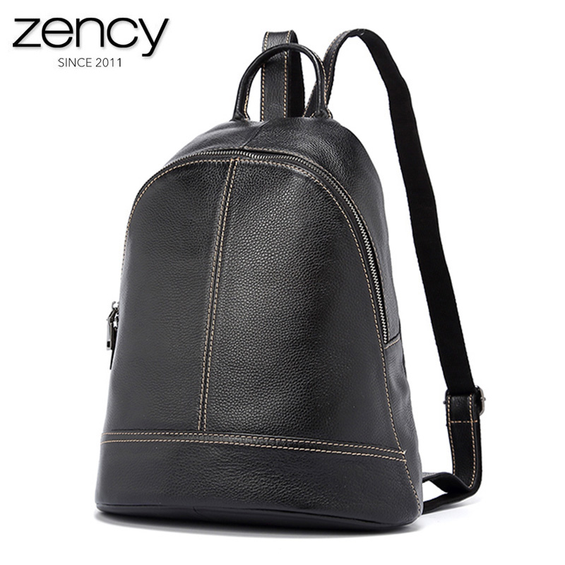 2017 New Genuine Leather Women Backpacks High Capacity Laptop Travel Packs 5 Colors Purses For Famale Girl's Simple Schoolbag new arrival 100% excellent genuine leather laptop backpacks 7202i 1