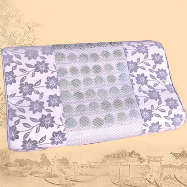Natural Jade Pillow Health Care Pillows Stress Relief Wave Shape jade Memory Foam Pillow Free Shipping 2 sets ball the plum flower jade handball furnishing articles hand bead natural jade health care gifts