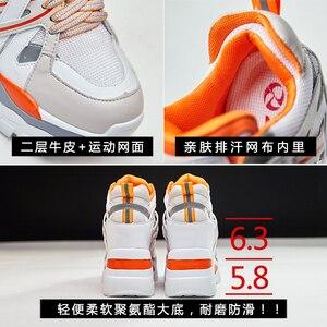 Image 4 - SWYIVY Wedge Chunky Sneakers kobiety obuwie 2019 nowe oddychające szczupłe nogi czarne trampki platformowe buty dla kobiety Sneaker