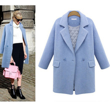 Fall/Winter Thickening Warm Cotton Padded Women Woolen Jacket, All-match Casual Wool Coat