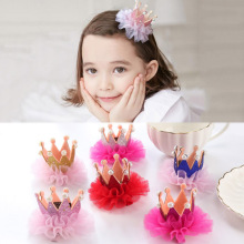 Sale 1PC 2018 Fashion Crown Children Headwear Princess Hair Clips kids Hairbands Accessories girls hairgrip