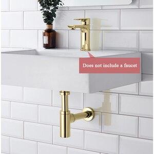Image 3 - Uythner umywalka łazienkowa z kranu butelka pułapka zestaw spustowy odpadów pułapka Pop spustowy dezodoryzacji chrom/czarny/brąz mosiądz syfon ścienne