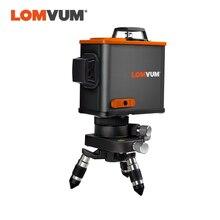 LOMVUM 12 קווים 3D Osram לייזר רמת עצמי פילוס 360 degre אופקי & אנכי צלב לייזר מנוף חצובה