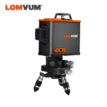 LOMVUM 12Lines 3D Osram Laser Level Self-Leveling 360 degre Horizontal & Vertical Cross Laser Lever Tripod