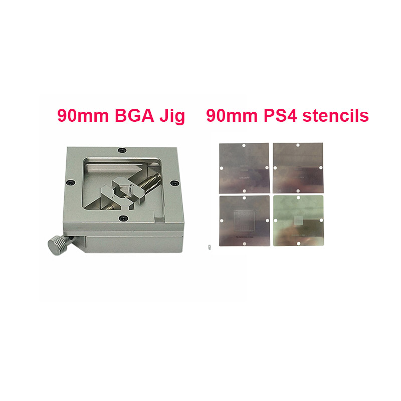 90mm Direct Heat PS4 Stencils CXD90025G CXD90026G K4G41325FC GDDR5 RAM K4B2G1646E DDR3 SDRAM And BGA Reballing Station Fixture
