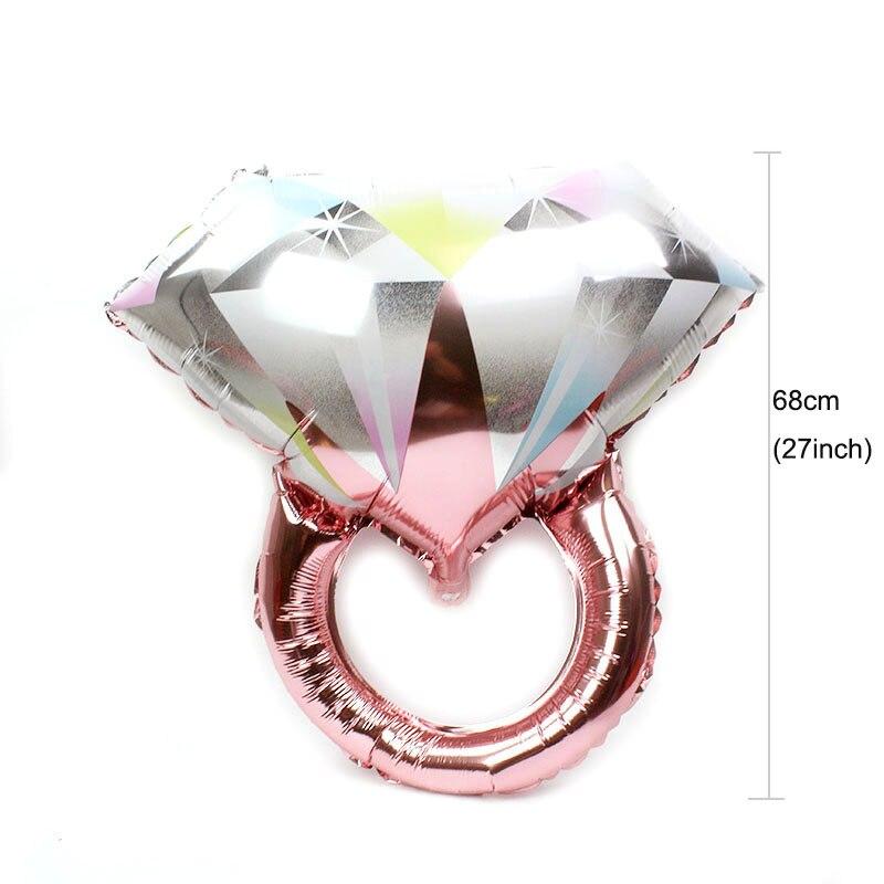 大号彩色钻戒玫瑰金 L CS ring rose gold