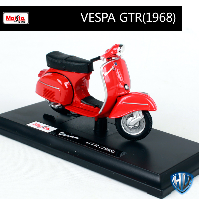 Купить с кэшбэком Maisto 1:18 12 vespa scooters motorcycle diecast for women riding motorcycle mini motorbike model present for collecting 39540