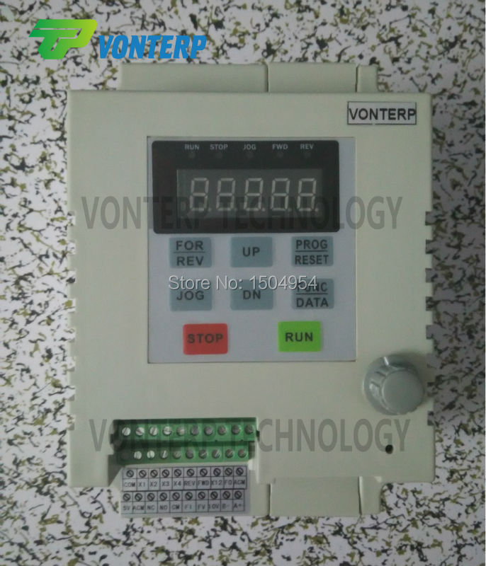 0 75KW 5A 220V single phase input and 220v single phase output VFD frequency converter variable