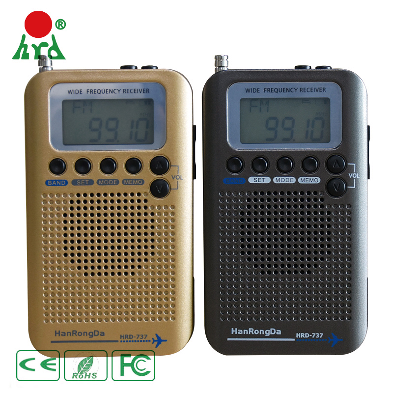 Portable Digital Mediation Full Range Radio FM/MW/SW/AIR/CB/VHF World Band Receiver Built in Speaker Lithium Battery HRD 737