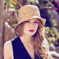 Elegant sun hat woman summer Foldable Straw Hats For Women Beach hats