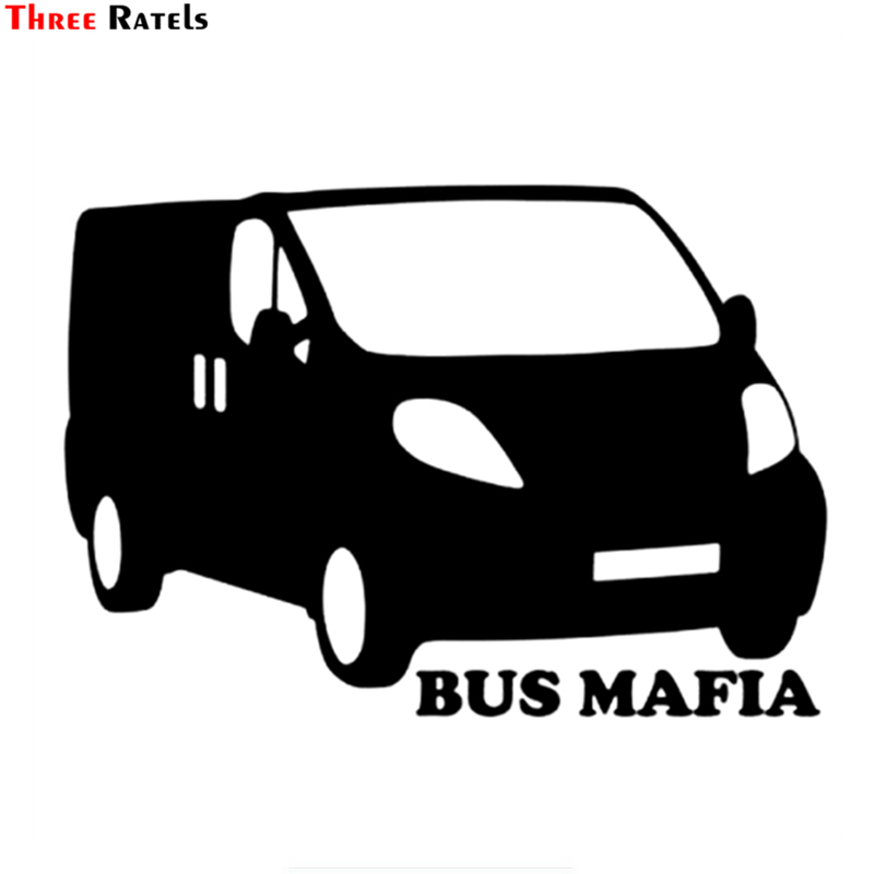 Three Ratels TZ-943# 14*20cm 1-3 Pieces Vinyl Car Sticker Bus Mafia For Renault Trafic Auto Car Stickers