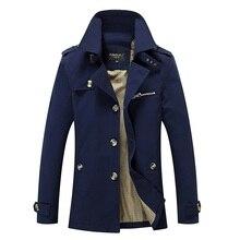 Brand New Men's Casual Trench Coat Wind Breaker Fashion Designer Plus Size Casua