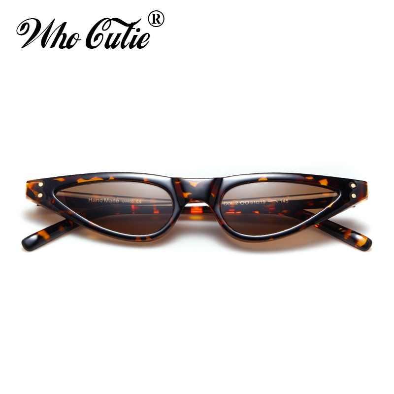 597cc0227a Que Linda 2018 rojo pequeño gafas de sol ojo de gato mujer diseño de la  marca