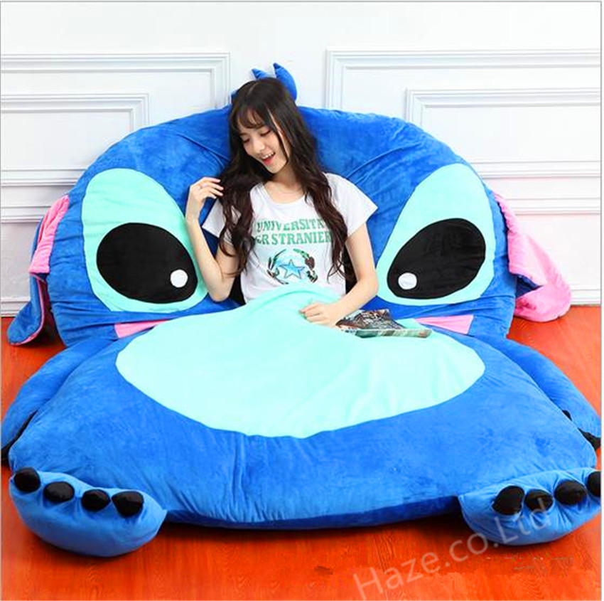 Stitch The Movie Cartoon Tatami Sofa Filled Bed Carpet Beanbag Mattress