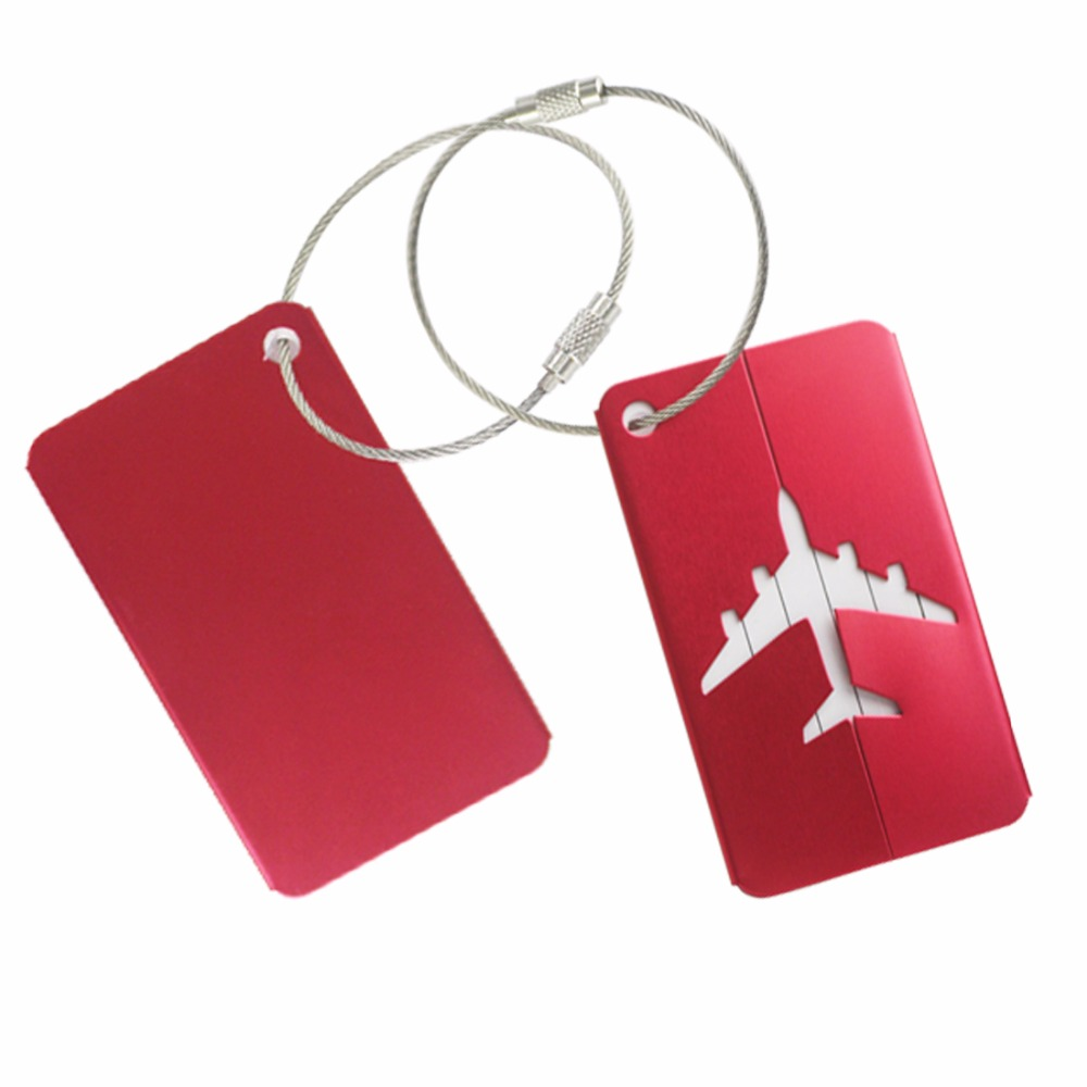 Golf Luggage & Bag Tag, Anodized Aluminun with Stainless Steel Wire Ring