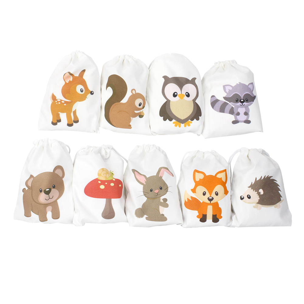 Woodland Animals Birthday Favor Bags Candy Gift Forest Baby Shower Party Decoration