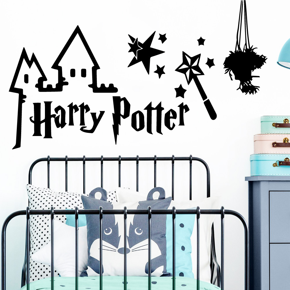 Us 3 38 14 Off Diy Art Harry Potter Quote House Decoration Wall Stickers Waterproof For Children S Room Decor Decals Naklejki In