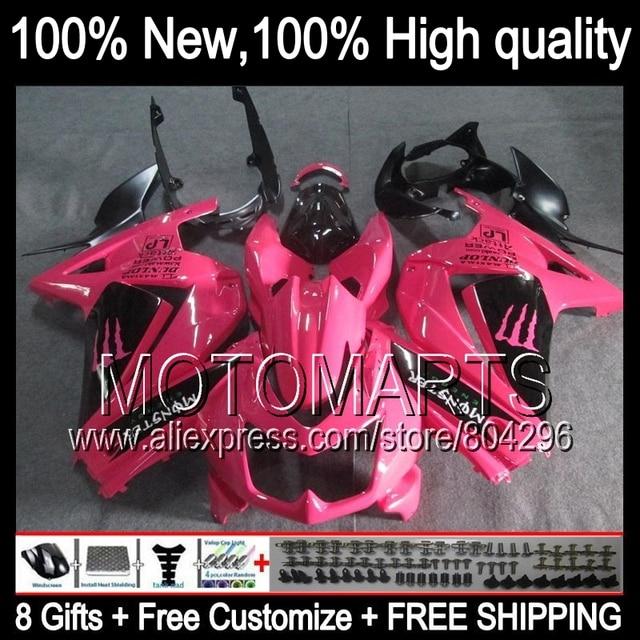 Body For Kawasaki Ninja Ex250 Ex 250 Pink Black 250r 178 08 09 10