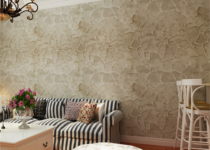 Cheap Vinyl Wall Covering on 3d Textured Wall Panels In Living Room