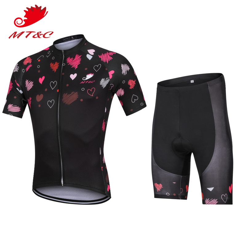 Bicycle 2018 bretelle ciclismo Women Bicycle 2018 bretelle ciclismo downhill Set Pink Heart Breathable Clothes camisa bicicle Sp