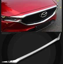 MONTFORD Fit For Mazda CX-5 CX5 2017 2018 ABS Chrome Exterior Front Engine Machine Grille Upper Hood Cover Trim Car Styling 1Pcs